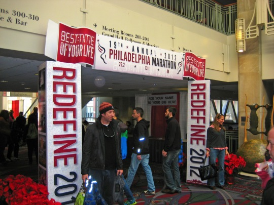 Entrance to the Philadelphia Marathon Expo
