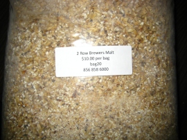 Malted crushed barley