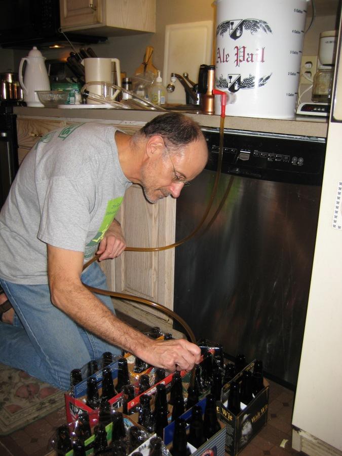 Filling the bottles