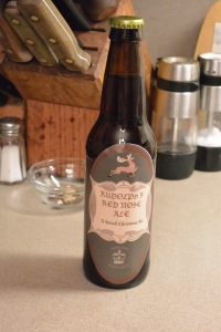 A Bottle of Rudolph's Red Nose Ale