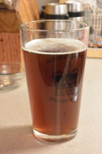 Glass of Rudolph's Red Nose Ale