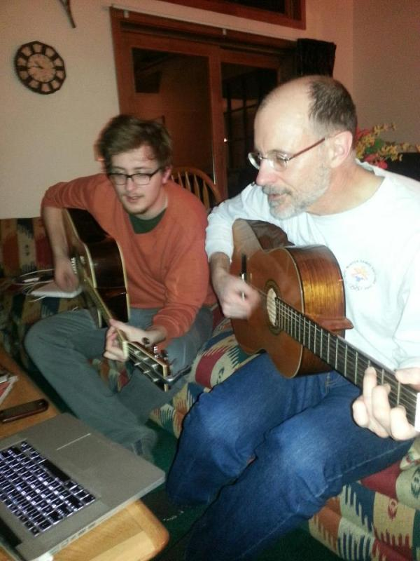 Craig and Frank playing guitar