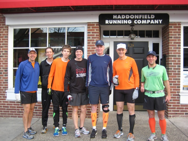 Steve, Dave, Dan Brian, Rich, Frank and Keith, at the start of the Rocky Run.