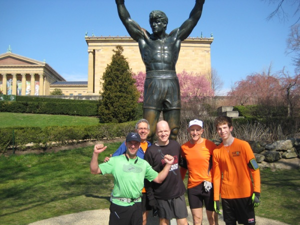 Keith, Steve, Brian, Frank and Dan with Rocky.  Dave helped Rich get to the finish a bit behind the rest of us.