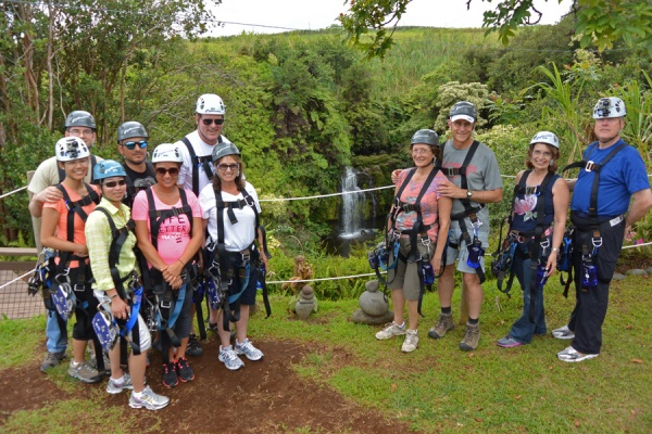 Our intrepid group of zip liners.