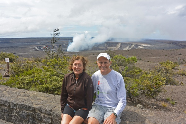 At the Jaggar museum, overlooking the Kilauea caldera.