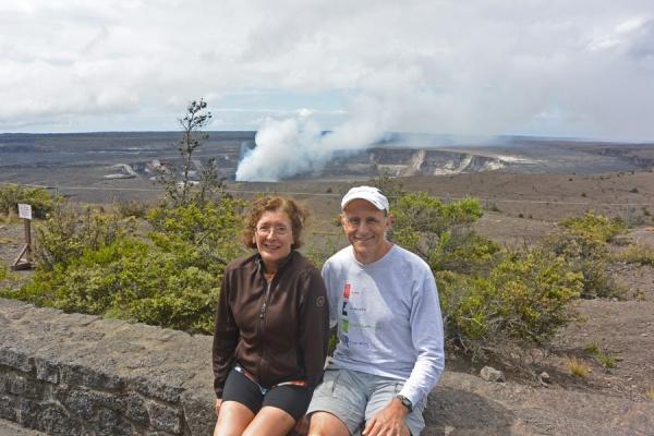 At the Jaggar museum, overlooking the Kilauea caldera.