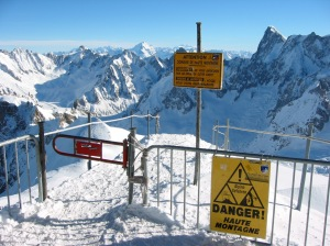 Entrance to the Vallée Blanche