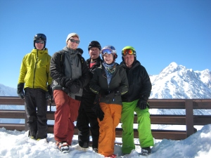 Simon, Will, AJ, Kristine and Paul at the top of the Youla gondola.