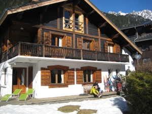 Our chalet, Chalet Arkle, on Rue Joseph Vallot in Chamonix.
