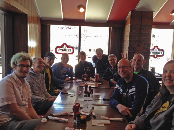 SJAC runners at Friday's after the Rocky II run.