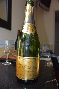 A very nice bottle of Champagne delivered to our room.