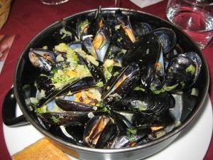 Mussels at La Grande Voile.