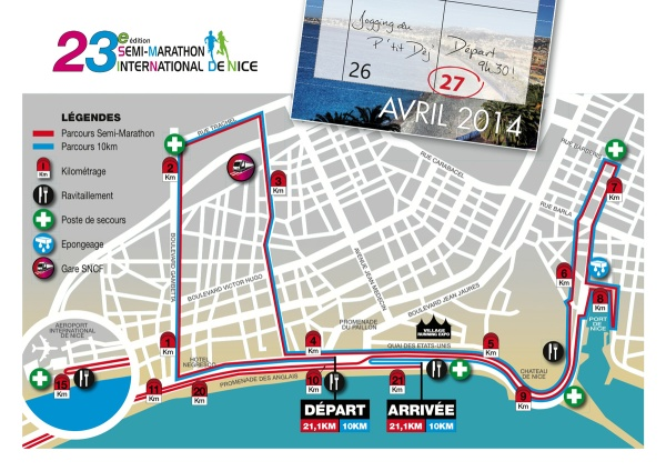 The parcours of the race.
