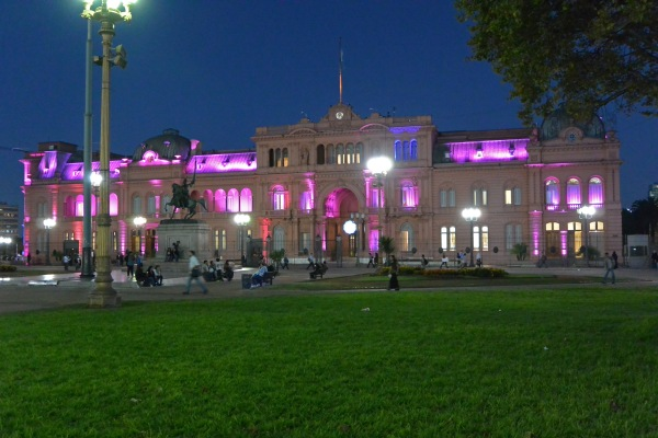 La Casa Rosada, or Pink House, home of the office of the president of Argentina.