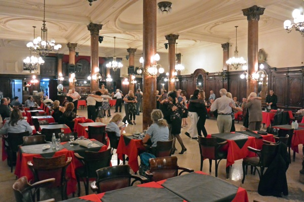 Afternoon tango at Confiteria Ideal, a classic tango venue.