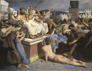 Pheidippides giving word of Victory, by Luc-Olivier Merson