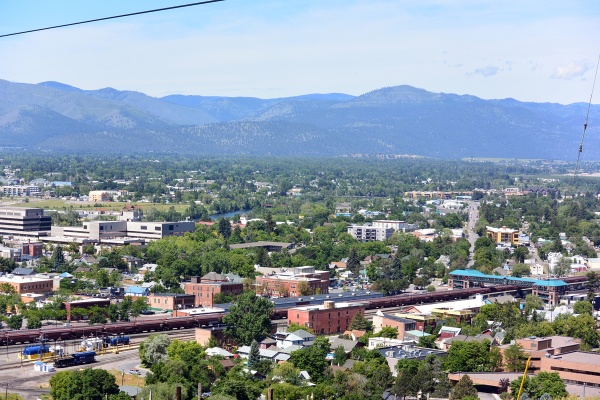 Missoula as seen from Waterworks Hill.